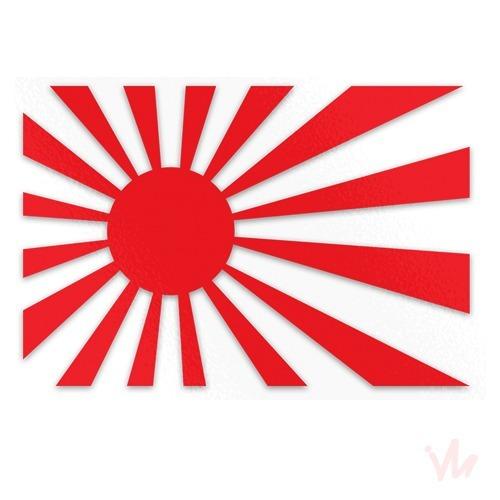 Adesivo Bandeira Japão Carro Turbo Aspirado Jdm Rebaixado