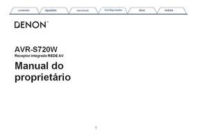 Manual Em Português Denon Avr-s720w