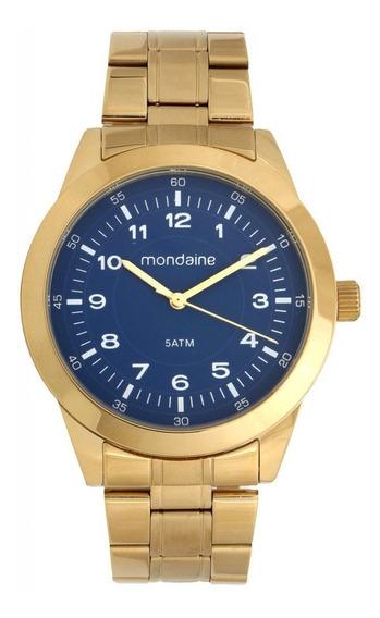 Relógio Mondaine Masculino Analógico Dourado 78739gpmvda2