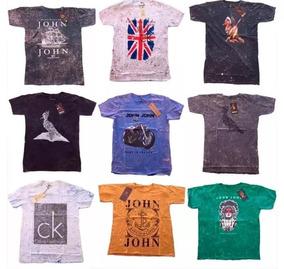 7ee060302a Kit 10 Camisetas Masculinas Malha Pré Lavadas Várias Marcas