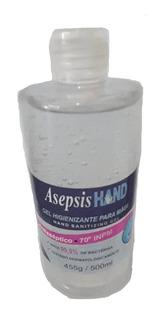 Álcool Gel 70% Antisséptico Para Mãos Asepsis 500ml C/anvisa