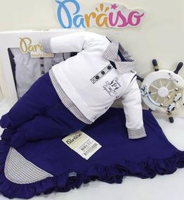 Saida De Maternidade Bebê Menino Paraiso Macacão Ref 9641