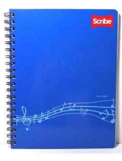 Cuaderno Profesional Scribe 100 Hojas Pautado Para Música