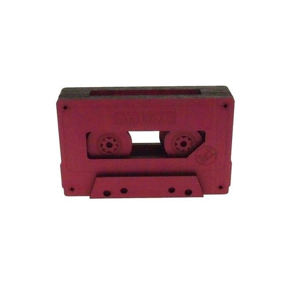 Fita Cassete Retro Decorativa Rosa