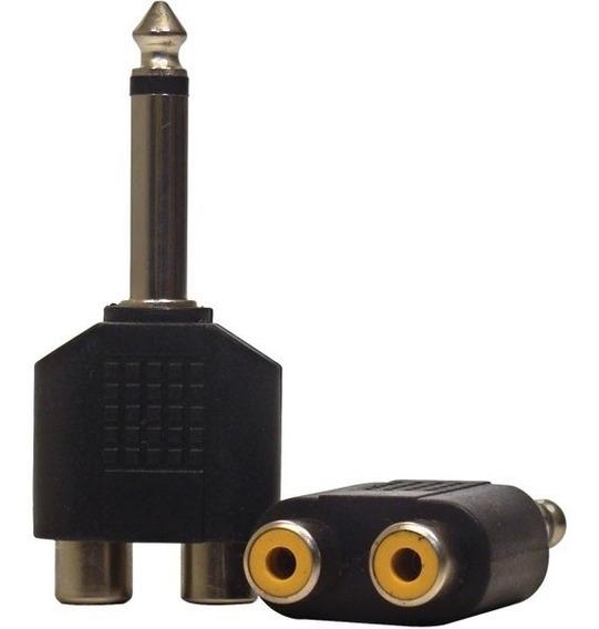 Adaptador P10 Mono X 2 Rca Fêmea Loud