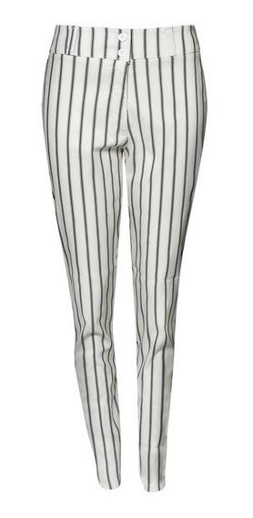 Pantalones Rayados De Mujer - Talles Grandes Y Especiales