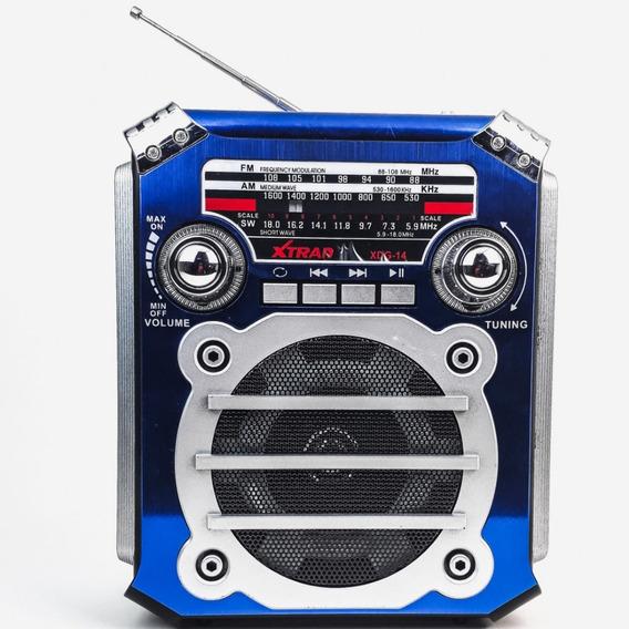 Rádio Xtrad Xdg-14 Portátil Bluetooth Am/fm/sw 3 Bandas Usb