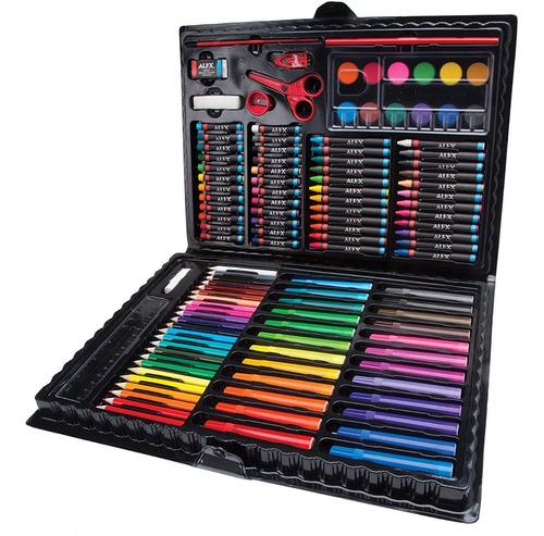 Maleta De Arte Colores, Marcadores Acuarela Y Mas 120 Pzas