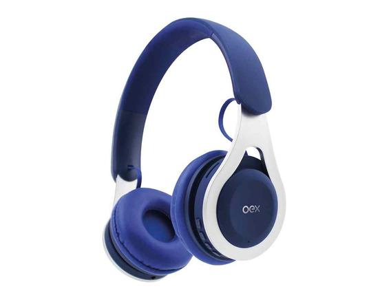 Fone De Ouvido Bluetooth Headset Drop Azul Hs306 - Oex