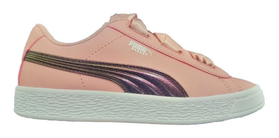 Tenis Atleticos Basket Heart Shimmer Niña 02 Puma 370088