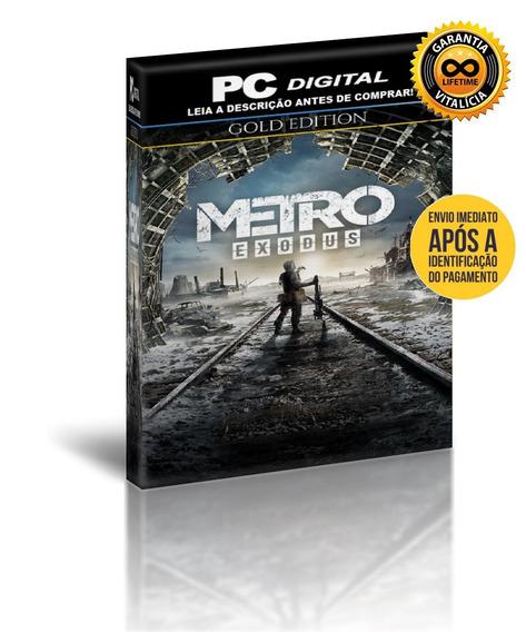 Metro Exodus Gold Edition - Pc Digital + Brinde
