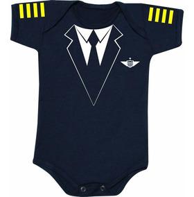 Body Infantil Piloto Comercial- Azul Marinho