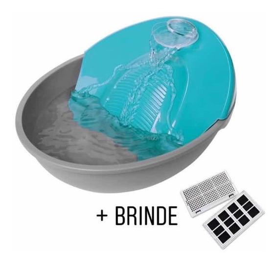Fonte Para Gatos Bebedouro E Purificador De Água + Brinde