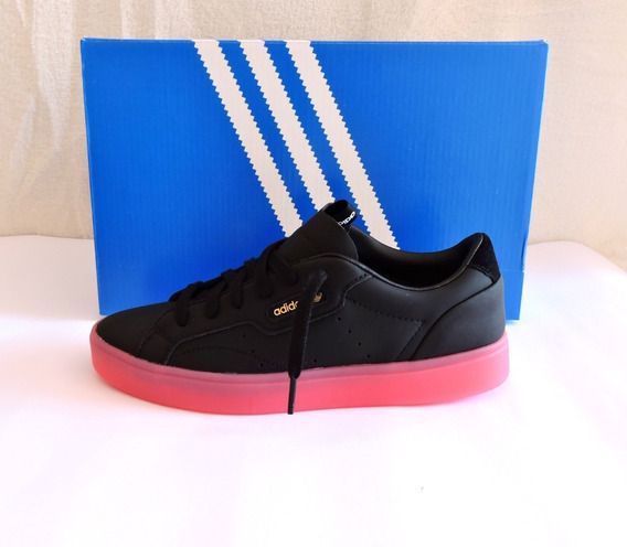 Tênis adidas Originals Sleek Preto Couro