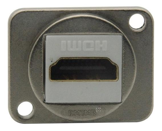 Conector Hdmi Metal Extensão Parafusar Parede