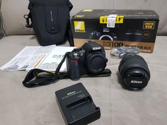 Câmera Dslr Nikon D3100 Ainda Na Caixa Novinha Imperdível!
