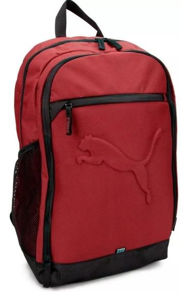 Mochila Puma Buzz Backpack Laptop Sports Bordo