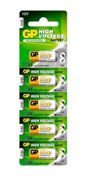 1 Cartela C/ 5 Baterias Gp Ultra High Voltage Alcalina 23a