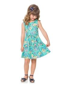 Vestido Milon Infantil Floral Regata Com Cinto Verão Tam 6