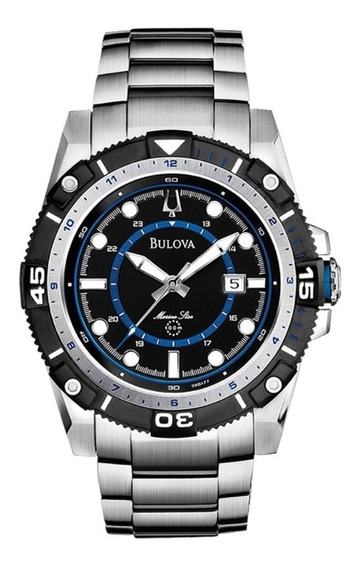 Relógio Bulova Marine Star Masculino Wr 100 - Ref: 98b177