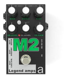Pedal Amt Legend Amps M2 Emulador Marshall Jcm 800 Rd Music
