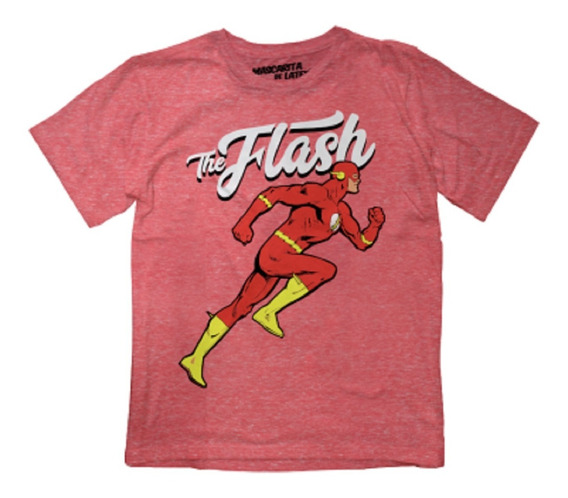 Playera Mascara De Latex The Flash Mldc Niño