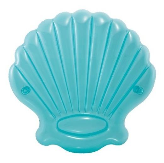 Colchoneta Inflable De Almeja Azul Alberca Para Adulto Intex