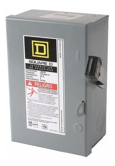 Interruptor Seguridad 2p 60 A Palanca Cfe Luz Caja Fusibles