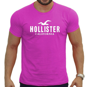 Camisa Rosa Hollister Abercrombie Masculina Varias Cores