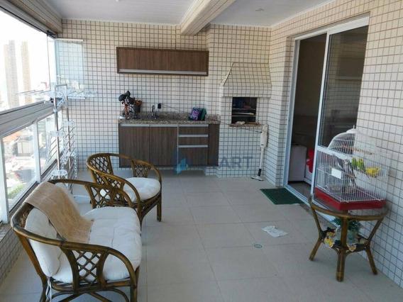 Apartamento 3 Suítes E 3 Vagas Residencial À Venda, Boqueirão, Praia Grande. - Ap2829
