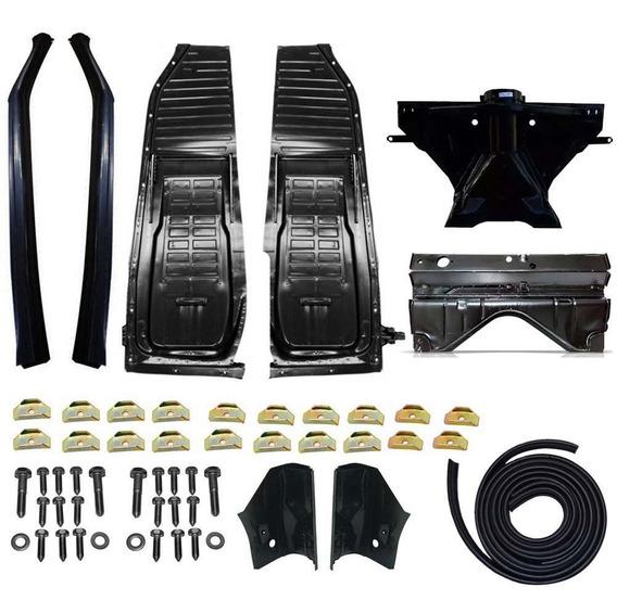 Kit Assoalho+cx Ar+cangalha+cabeçote+pé Coluna Fusca Zito