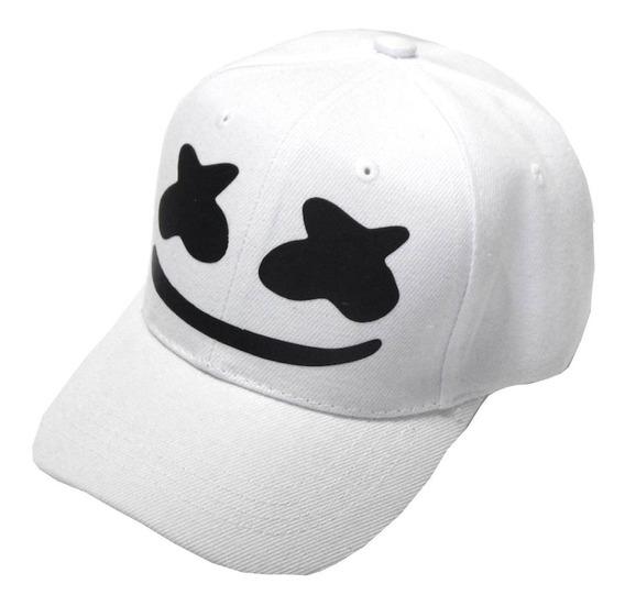 Dj Marshmello Gorra Vinil Estampado Edc Blanco Ajustable
