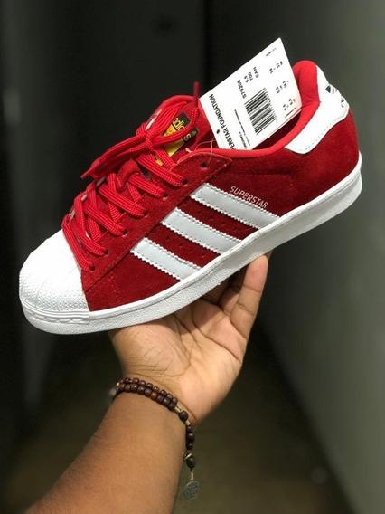 adidas Superstar Vermelho/preto Unissex Frete Grátis