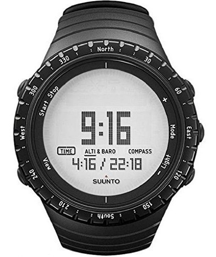 Reloj De Cuarzo Suunto Core Regular Black Digital, Correa De