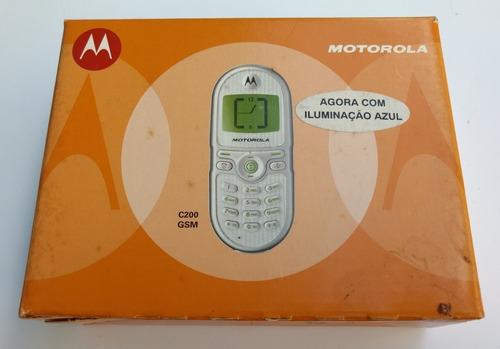 Celular Simples Motorola C200 Gsm Prata - Reliquia Colecao