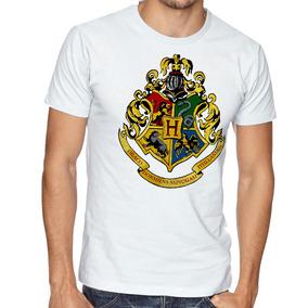 Camiseta Blusa Hogwarts Símbolo Harry Potter Colorido Logo