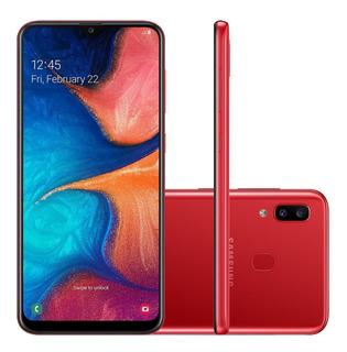 Smartphone Samsung Galaxy A20 Sm-a205g - 32gb Vermelho