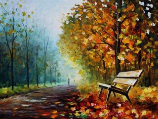 Foto Para Quadro 65cmx85cm Obra Autumn Park Pra Decorar Sala