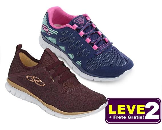 Tenis Sapato Juvenil Menina Olympikus - Leve 02 + Kit Meia