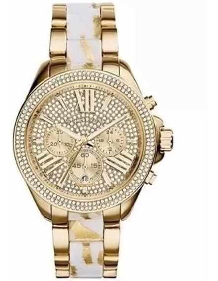 Relógio Michael Kors Mk 6157 Dourado Original