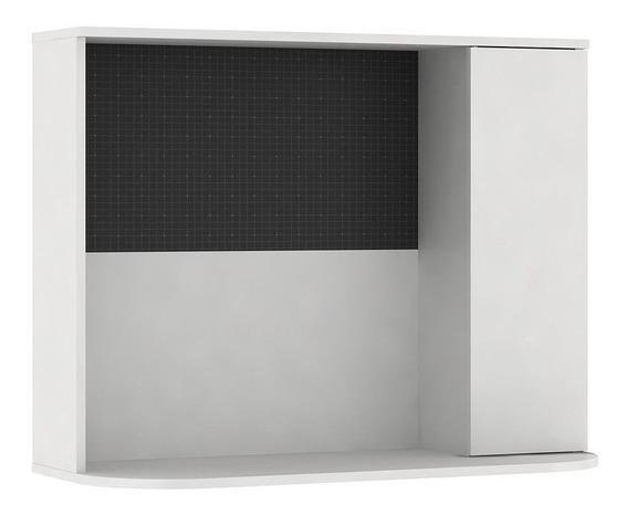 Escrivaninha Suspensa De Canto Com Porta - Gebb Work -branco