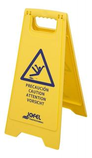 1 Pieza Señal De Seguridad Piso Mojado Af042 Jofel