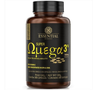 Super Omega 3 1000mg - 180 Caps - Essential Nutrition