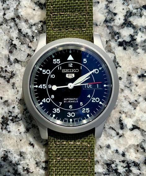 Relógio Seiko Automático Snk809 Militar Khaki