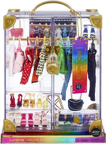 Imagem 1 de 8 de Rainbow High Deluxe Fashion Closet Playset Armário Roupas