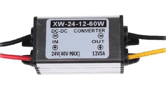 Conversor Tensão 24v Para 12v 60w 5a Alumínio Impermeável