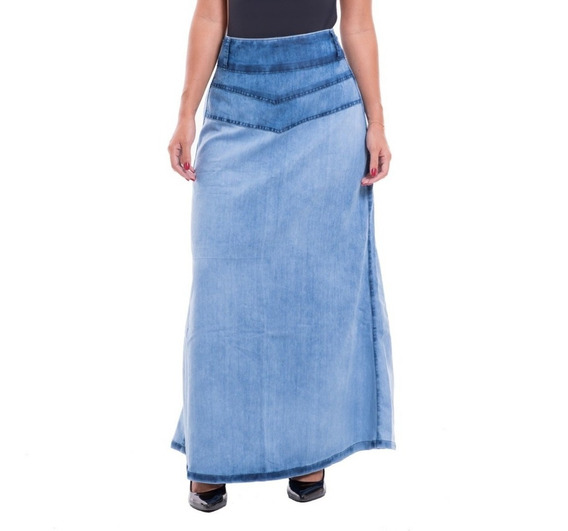 Kit Com 5 Saias Longas Jeans