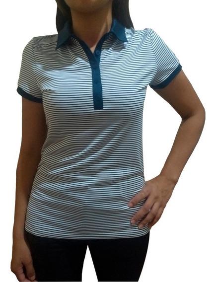 Chomba Nike Dama Rayada Azul Golflab