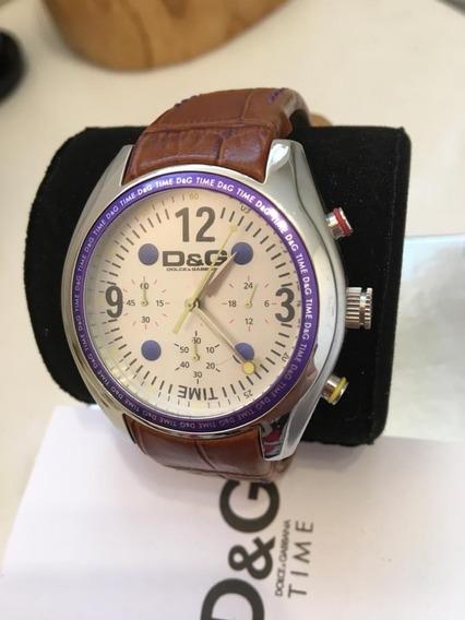 Sale! Relógio Dolce & Gabbana Inox Couro Cronometro!