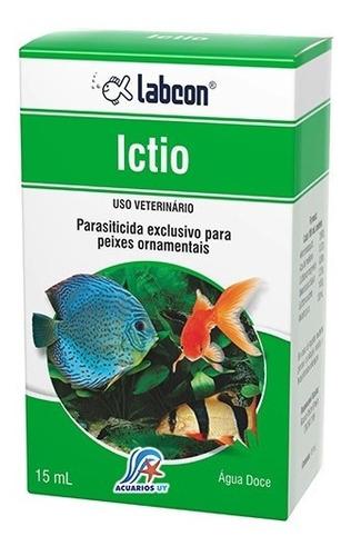 Medicamento Anti Parásitos Peces Acuario. Labcon Ictio 15ml